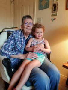 Katy holding great granddaughter
